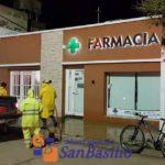 San Basilio: Realizan tareas de desinfección en espacios públicos y privados